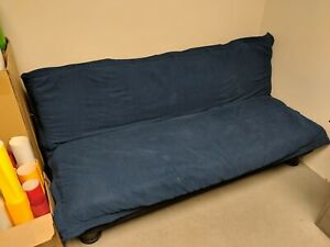 Blue Futon, office desks & chairs for sell