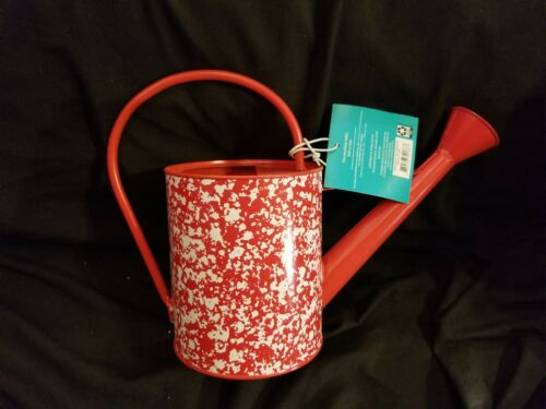 Pioneer Woman Red Country Splatter Watering Can