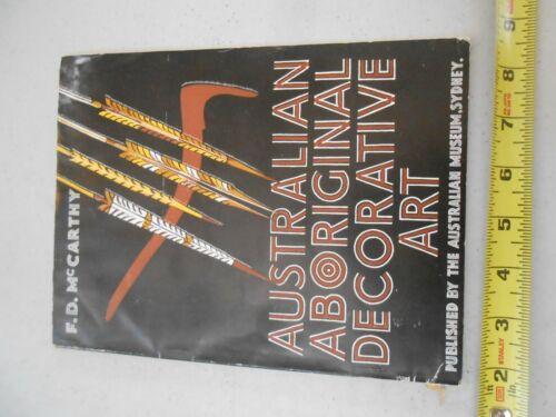 VINTAGE F.D. McCARTHY AUSTRALIAN ABORIGINAL DECORATIVE ART 6TH EDIT FIELD GUIDE