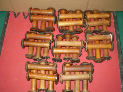 Vintage Industrial Wooden Spools Lots Of 40