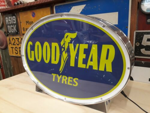Goodyear,tyres,automobilia,vintage,classic,mancave,lightup sign,garage,workshop