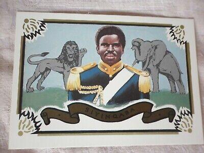 SWAZILAND  PHQ CARD No, 1 Diamond Jubilee of HM Sobhuza 2  Mint