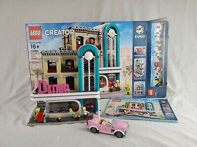 Same Day Free Shipping! LEGO 10260 Creator Expert Downtown Diner. Gently used.