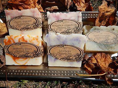 Organic Coconut Oil Homemade Bar Soap-Big 5.5 oz Bars (5 Flavors Available) - Organic Coconut Oil Bar Soap