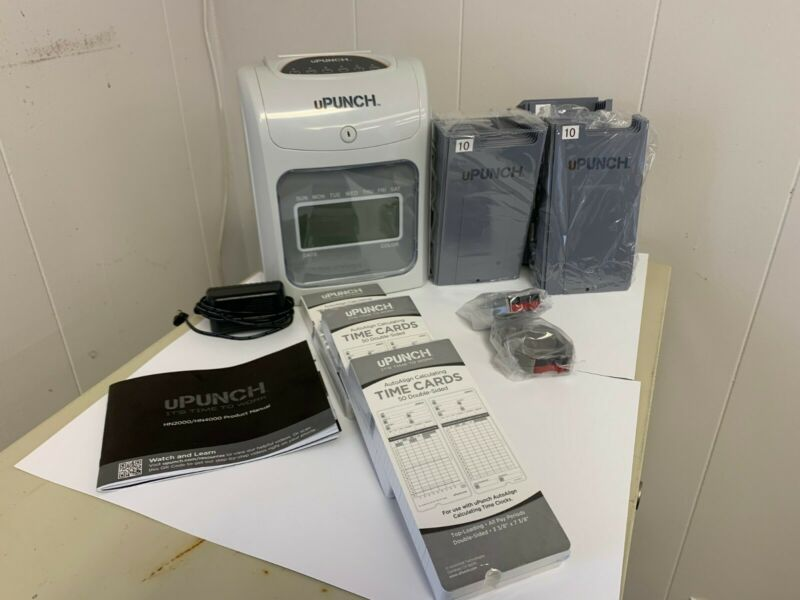 uPunch HN4500 Time Clock Bundle used Excellent condition