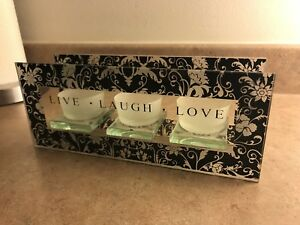 Live, Laugh, Love tea light candle holder