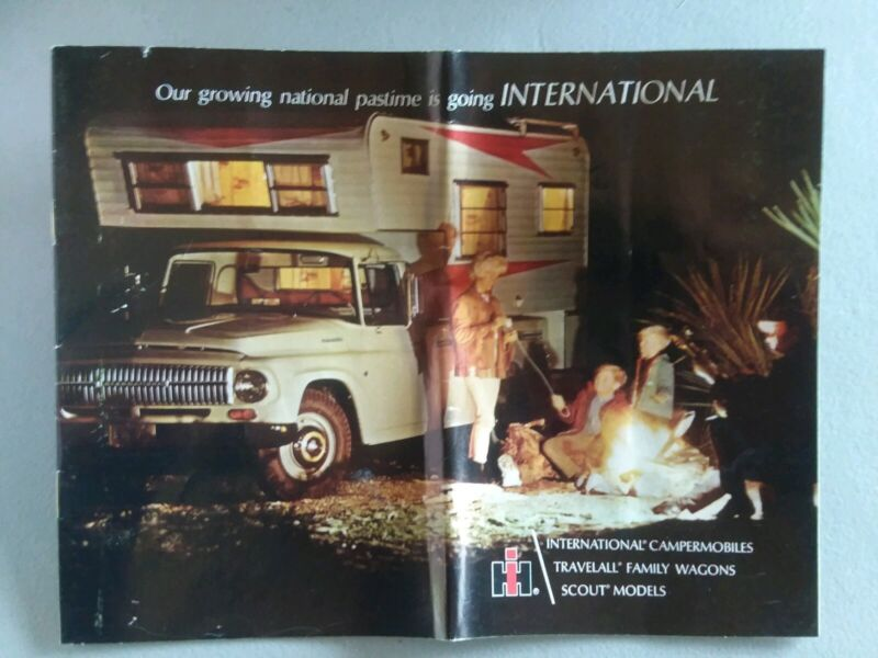 1960s INTERNATIONAL TRUCK MANUAL & BROCHURE WAGONS, CAMPER, SCOUT, TRAVELALL