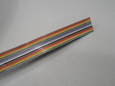 100ft Gore 16-conductor W 34 Rainbow Flat Cable New