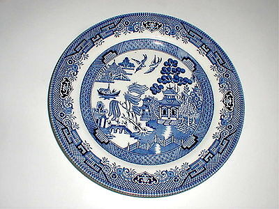 Churchill China England BLUE WILLOW Dinner Plate/s NEW on Rummage