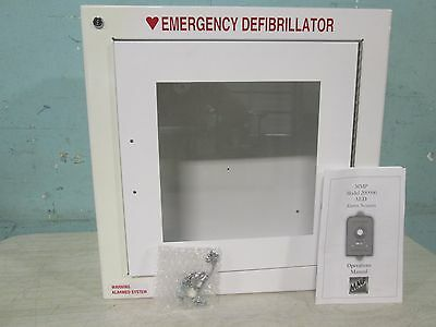 New In Box Modern Metal Products Wall Mounted Emergency Aed Cabinet Walarm
