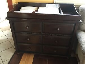 Changing Table / Dresser Solid Dark Wood