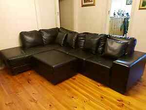 Leather sofa... As new... Alberton Port Adelaide Area Preview