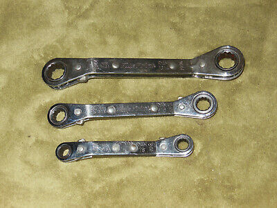 - Bluepoint 3 Piece Metric 12 point Ratcheting Offset Double Box Wrenchs