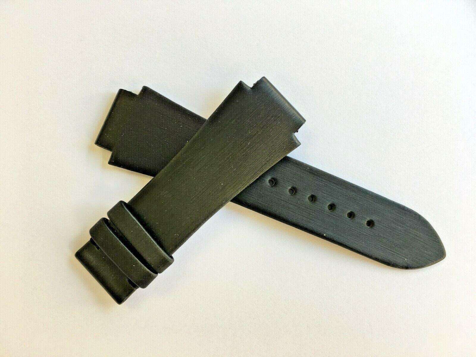 Original Fred Paris Uhrenarmband Satin 17 mm Schwarz für Faltschliesse