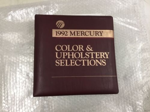 1992 MERCURY DEALER COLOR AND UPHOLSTERY SELECTIONS ALBUM