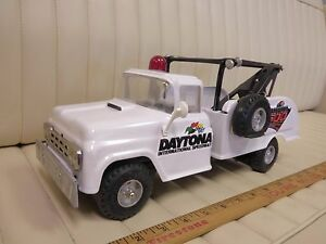 1964-BUDDY-L-DAYTONA-500-Auto-Wrecker-Tow-Truck-Pressed-Steel-Toy