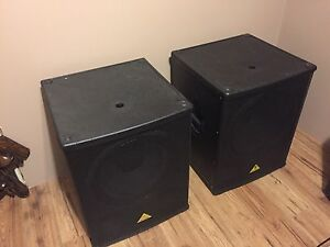 "Behringer 18"" Powered Subs"