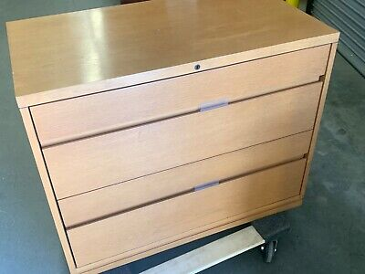 2 Drawer Lateral Size File Cabinet By Kimball Office Furniture In Natural Wood