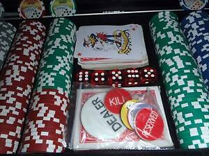 POKER CHIP SET WITH DICE AND CARDS Darwin CBD Darwin City Preview