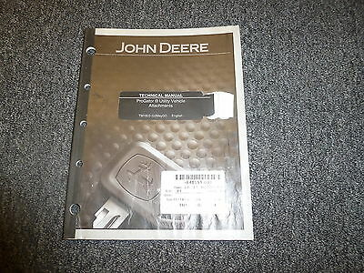 John Deere Progator Utility Vehicle Attachment Repair Service Shop Manual Tm1803