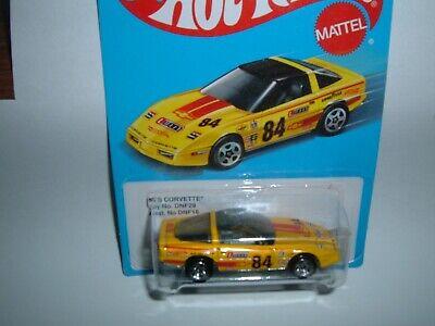 HOT WHEELS '80s Yellow CORVETTE  #84 Race Car - NIP