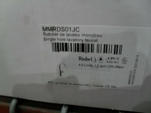 Riobel MMRDS01JC Momenti Single hole Bathroom Lav faucet Chrome