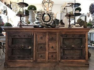 New Rustic Timber Samsara Entertainment TV Unit Sideboard Cabinet Richmond Hawkesbury Area Preview