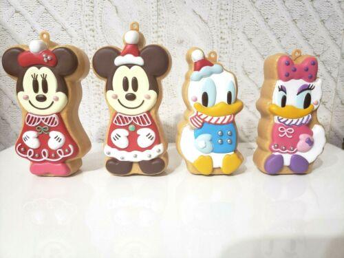TOKYO Disney GingerBread Christmas Ornament Mickey Minnie Donald Daisy Set 4