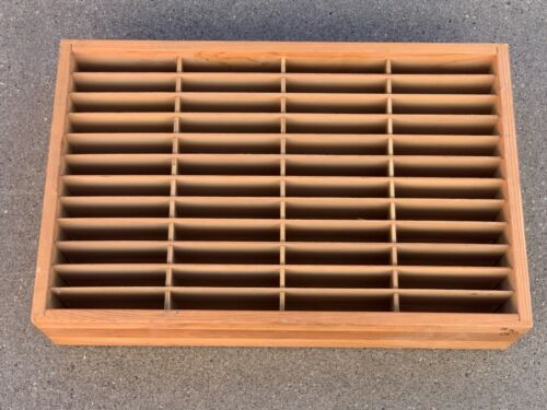 Wooden Napa Valley 48 Slot Rack 8-Track or NES Cartridge Storage Holder Wood