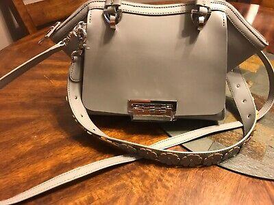 NWOT ZAC Zac Posen Women's Eartha Leather Top Handle Bag -GRAY