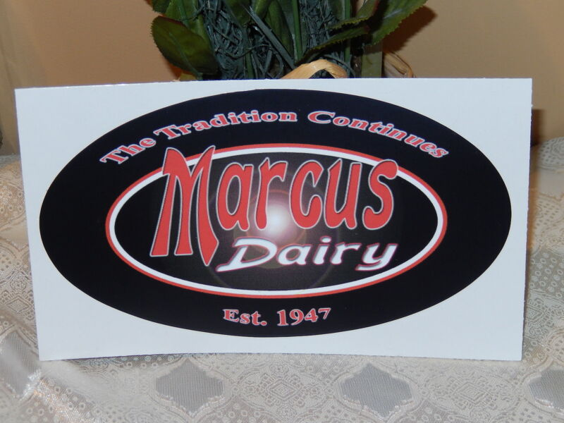 MARCUS DAIRY DANBURY CT COLLECTIBLE STICKER DECAL TRADITION CONTINUES EST. 1947