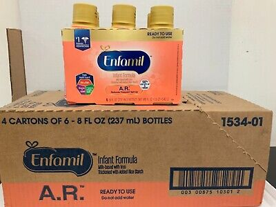4 six pack ENFAMIL AR 8 OZ 6/2020