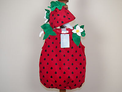 Koala Kids Strawberry Halloween Costume Girls Size 9M 12M Months **NEW W/ TAGS** - Strawberry Halloween Costume