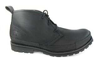 TIMBERLAND-84586-EK-BBURG-MENS-BLACK-LEATHER-BOOTS-SZ-7