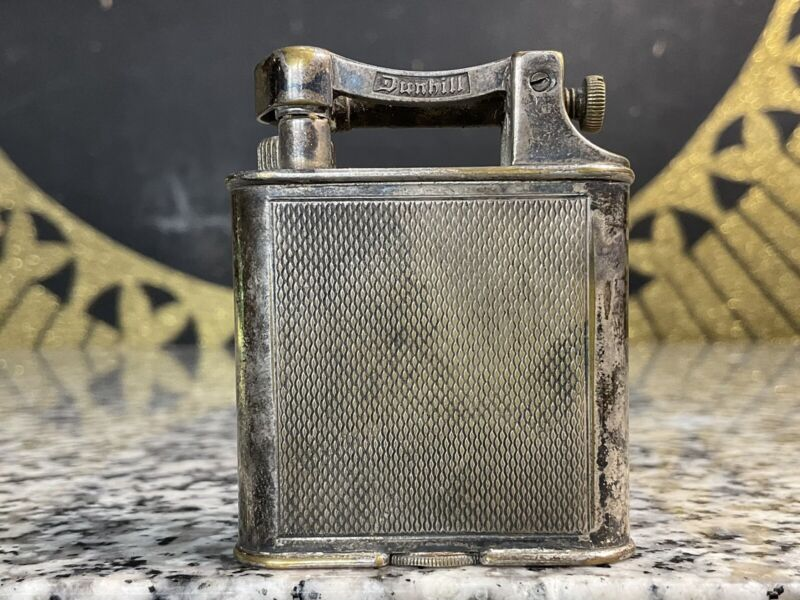 Vintage Original 1930s DUNHILL Lift Arm Silver Plated Lighter