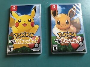 NEW Pokémon let's go pikachu and eevee for Nintendo switch