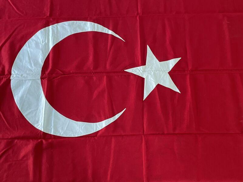 Turkey Vintage Bulldog Bunting Dettra Flag 4x6 Made USA Educational 1960s