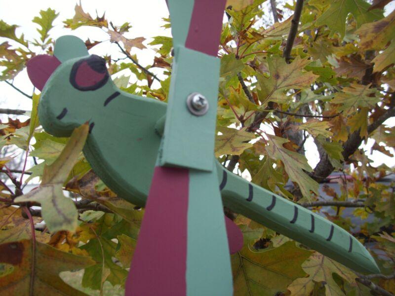 Light Green Dragonfly Mini Whirligigs Whirligig Windmill Yard Art Hand made