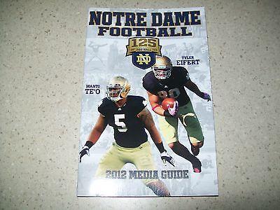 Notre Dame Football 2012 Media Guide~Fighting Irish 125 Years~12-0 Reg. Season