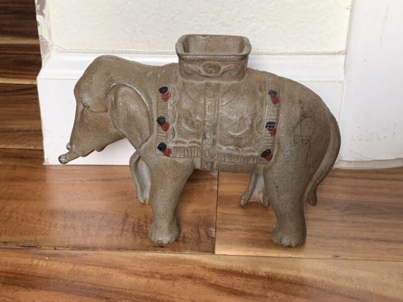 Vintage Collectible Cast Iron Elephant Bank Unique and Rare!!!