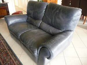Lounge, leather 2 seater, manual recliner Hawthorn Mitcham Area Preview