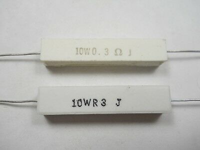 0.3 Ohm 10 Watt 5 Wire Wound Power Resistor Nos New Old Stockqty 10 Ead5