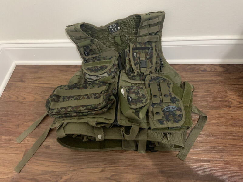 OSFM Empire Vest Battle Tested Paintball Tactical Pod Carrier Plus lot of Extras