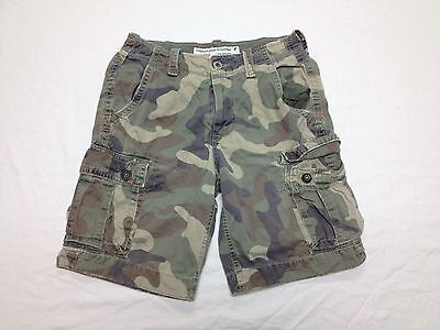 AMERICAN EAGLE MENS GREEN CAMO CARGO SHORTS SIZE 30W Tag 28 BEST