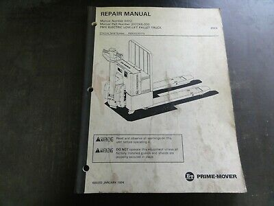 Bt Prime-mover Pmx Electric Low Lift Pallet Truck Repair Manual