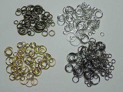 100 MIXED Jump Ring Jewelry Findings Assorted 4/6/8/10mm  *Choose your color* 10 Mm Jump Rings