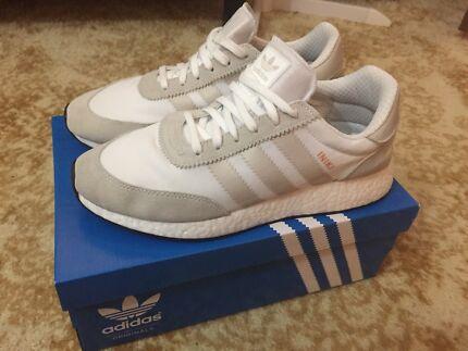 Adidas Iniki Runner Boost (White/Pearl Grey)  size US10