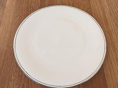 Lenox FEDERAL PLATINUM Cake Plate BONE CHINA 11 7/8 inches new with tag Lenox Federal Platinum China