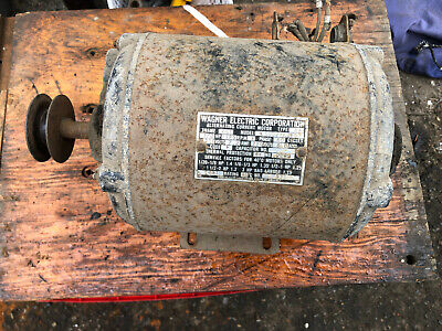 Vintage Wagner Electric Corp. 12 Hp Motor 1725 Rpm 110 Or 220 Volts Fast Sh