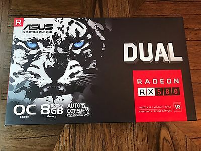 ASUS Radeon RX 580 O8G Video Graphics Card GPU Ethereum Mining NEW 8GB